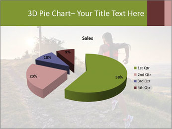 A young woman running PowerPoint Template - Slide 35