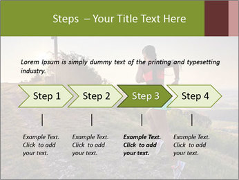 A young woman running PowerPoint Template - Slide 4