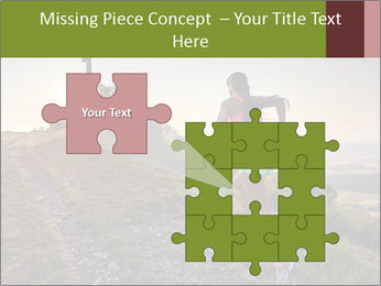 A young woman running PowerPoint Template - Slide 45
