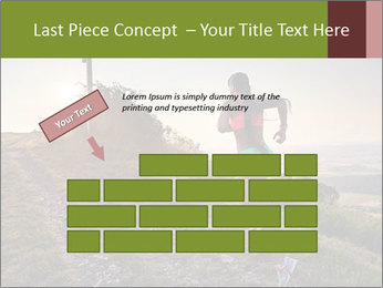 A young woman running PowerPoint Template - Slide 46