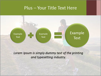 A young woman running PowerPoint Template - Slide 75