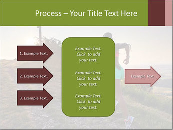 A young woman running PowerPoint Template - Slide 85