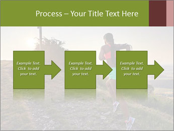 A young woman running PowerPoint Template - Slide 88