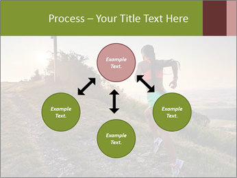 A young woman running PowerPoint Template - Slide 91