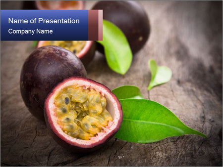 Passion fruits PowerPoint Template