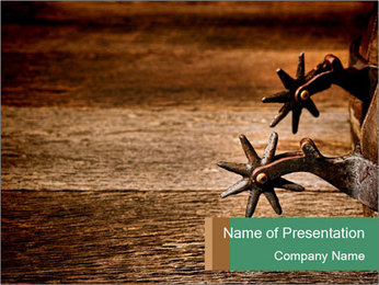 American West rodeo PowerPoint Templates - Slide 1