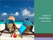 Couple at Maldives PowerPoint Templates