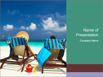 Couple at Maldives PowerPoint Template - Slide 1