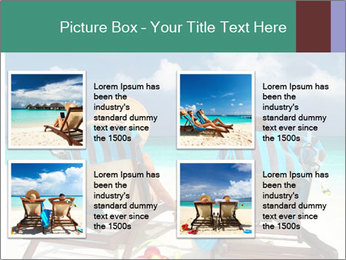 Couple at Maldives PowerPoint Template - Slide 14