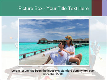 Couple at Maldives PowerPoint Template - Slide 16