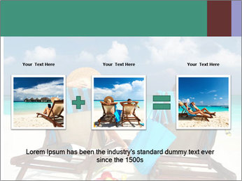 Couple at Maldives PowerPoint Template - Slide 22