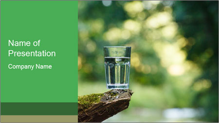Clean water PowerPoint Template