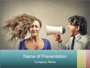 Angry businessman screaming PowerPoint Templates