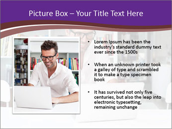 Happy man working PowerPoint Template - Slide 13
