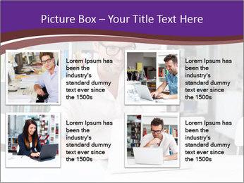Happy man working PowerPoint Template - Slide 14