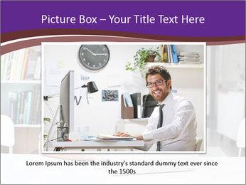 Happy man working PowerPoint Template - Slide 15