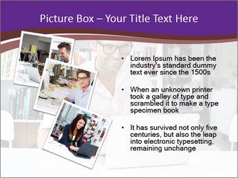 Happy man working PowerPoint Template - Slide 17