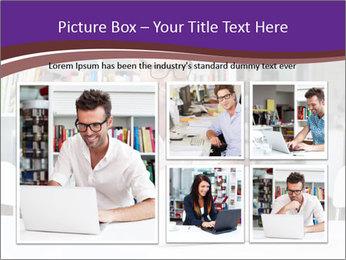 Happy man working PowerPoint Template - Slide 19
