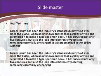 Happy man working PowerPoint Template - Slide 2