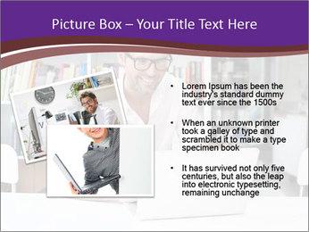 Happy man working PowerPoint Template - Slide 20