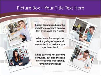 Happy man working PowerPoint Template - Slide 24