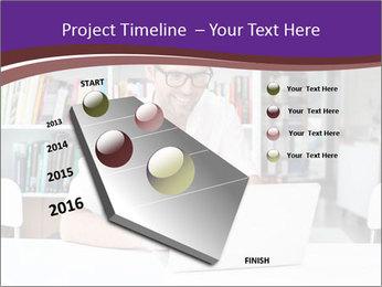 Happy man working PowerPoint Template - Slide 26