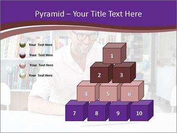 Happy man working PowerPoint Template - Slide 31