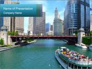 The Chicago River PowerPoint Templates