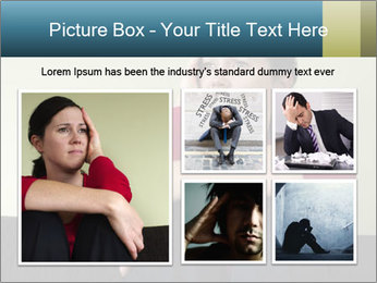 Portrait of sad woman PowerPoint Templates - Slide 19