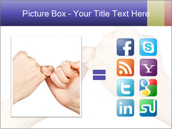Man and woman making a pinkie promise PowerPoint Template - Slide 21