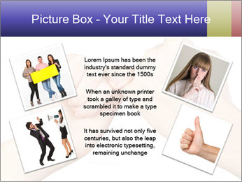 Man and woman making a pinkie promise PowerPoint Template - Slide 24