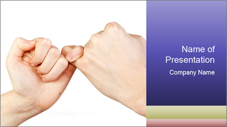 Man and woman making a pinkie promise PowerPoint Template