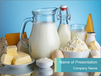 Dairy products PowerPoint Templates - Slide 1