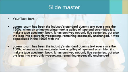 Dairy products PowerPoint Template - Slide 2