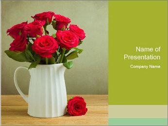 Rose flower bouquet PowerPoint Template - Slide 1