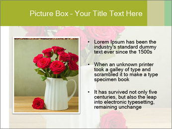 Rose flower bouquet PowerPoint Template - Slide 13