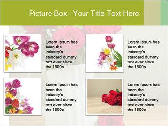 Rose flower bouquet PowerPoint Template - Slide 14