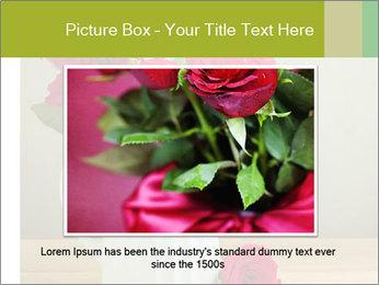Rose flower bouquet PowerPoint Template - Slide 15