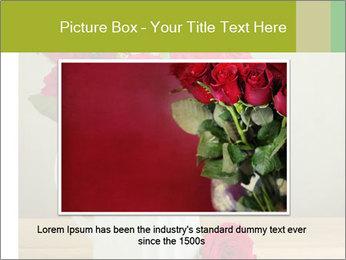 Rose flower bouquet PowerPoint Template - Slide 16