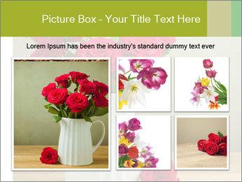 Rose flower bouquet PowerPoint Template - Slide 19