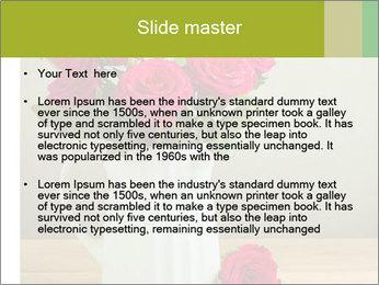 Rose flower bouquet PowerPoint Template - Slide 2