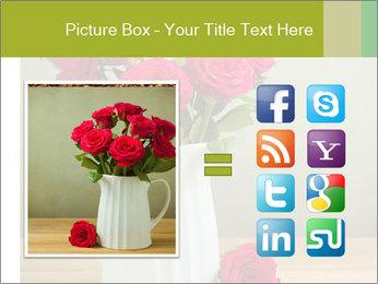 Rose flower bouquet PowerPoint Template - Slide 21