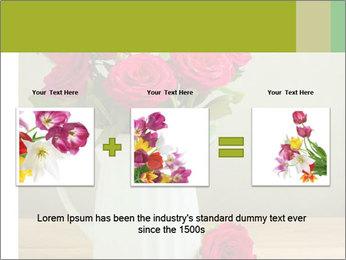 Rose flower bouquet PowerPoint Template - Slide 22