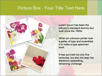Rose flower bouquet PowerPoint Template - Slide 23