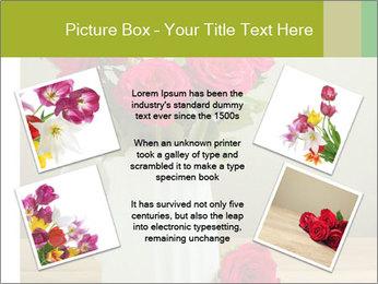 Rose flower bouquet PowerPoint Template - Slide 24