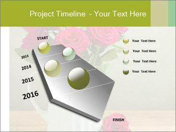 Rose flower bouquet PowerPoint Template - Slide 26