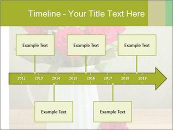 Rose flower bouquet PowerPoint Template - Slide 28