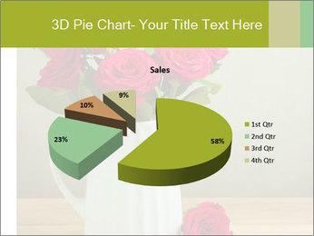 Rose flower bouquet PowerPoint Template - Slide 35