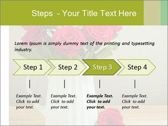 Rose flower bouquet PowerPoint Template - Slide 4