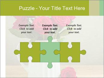 Rose flower bouquet PowerPoint Template - Slide 42